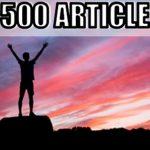 ブログの記事数500記事達成!収入やブログの継続コツなど紹介