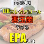 中高年健康診断LDLコレステロール悪玉菌を下げるEPA含む青魚